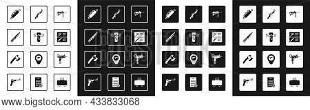 Set Submachine Gun M3, Knife Holster, Military Knife, Trap Hunting, Weapon Catalog, Hunting, Uzi Sub