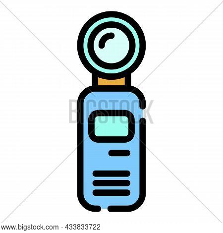 Motorcycle Action Camera Icon. Outline Motorcycle Action Camera Vector Icon Color Flat Isolated