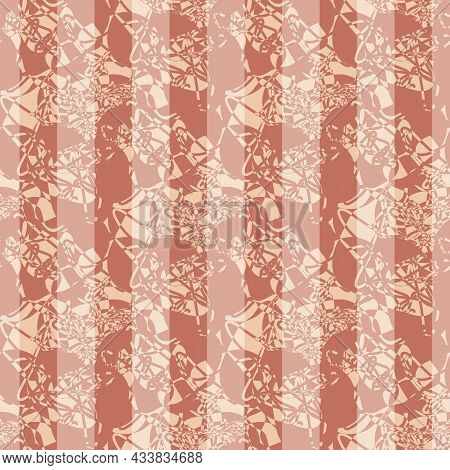 Abstract Marbling Striped Texture. Pastel Ochre White Vector Seamless Pattern Background. Backdrop W