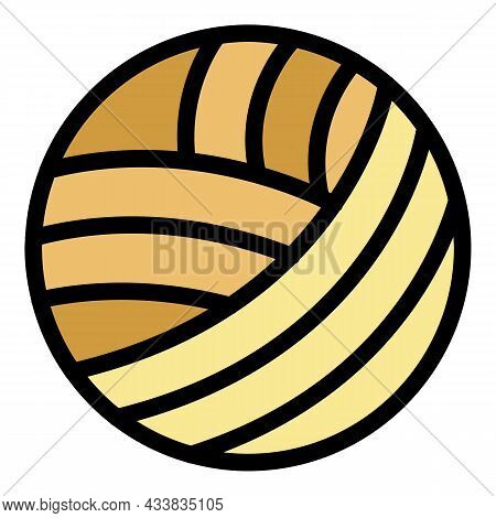 Thread Sewing Ball Icon. Outline Thread Sewing Ball Vector Icon Color Flat Isolated