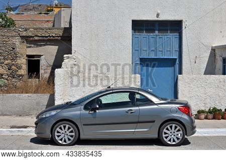 Palaiochora, July 26: Convertible Car Peugeot 207cc In The City Street On July 26, 2021 At Palaiocho