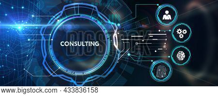 Business, Technology, Internet And Network Concept. Consulting Expert Advice Support Service.3d Illu