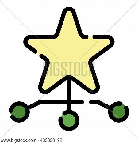 Star Charity Comunity Icon. Outline Star Charity Comunity Vector Icon Color Flat Isolated