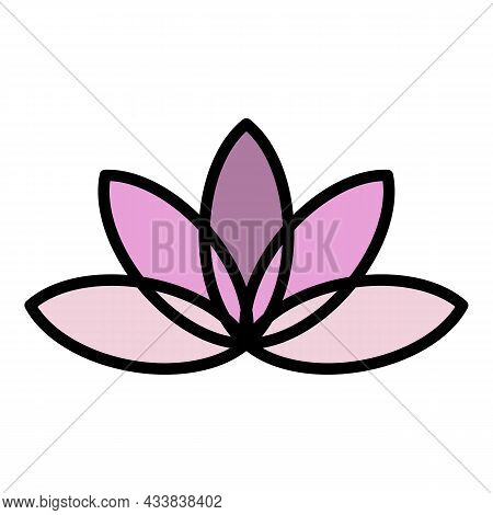 Aromatic Lotus Icon. Outline Aromatic Lotus Vector Icon Color Flat Isolated