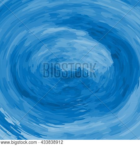 Watercolor Abstract Background Texture. Blue Watercolour Hand Paint With A Brush.  Ink Stains Elemen