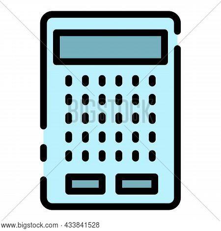 Modern Finance Calculator Icon. Outline Modern Finance Calculator Vector Icon Color Flat Isolated