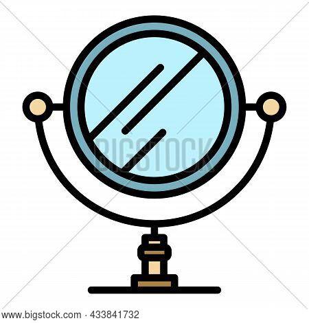 Retro Mirror Icon. Outline Retro Mirror Vector Icon Color Flat Isolated