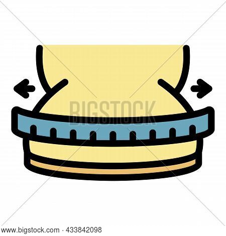 Overweight Fit Icon. Outline Overweight Fit Vector Icon Color Flat Isolated