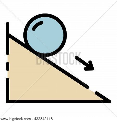 Friction Force Icon. Outline Friction Force Vector Icon Color Flat Isolated