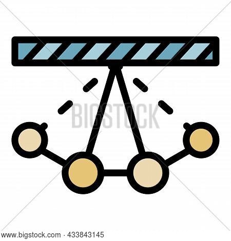Swinging Pendulum Icon. Outline Swinging Pendulum Vector Icon Color Flat Isolated