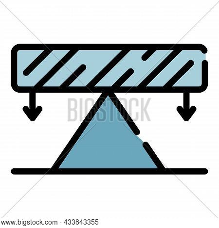 Balance In Physics Icon. Outline Balance In Physics Vector Icon Color Flat Isolated