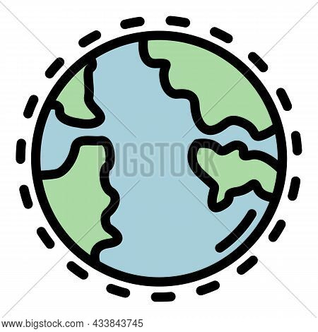 Earthly Atmosphere Icon. Outline Earthly Atmosphere Vector Icon Color Flat Isolated