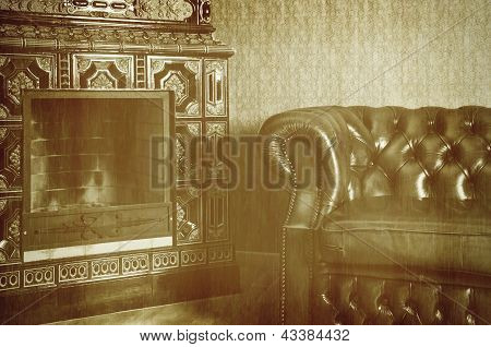 Chair And Fireplace