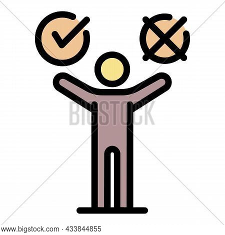 Consumer Choice Icon. Outline Consumer Choice Vector Icon Color Flat Isolated