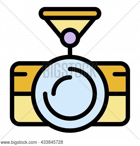 Action Camera Suction Cup Icon. Outline Action Camera Suction Cup Vector Icon Color Flat Isolated