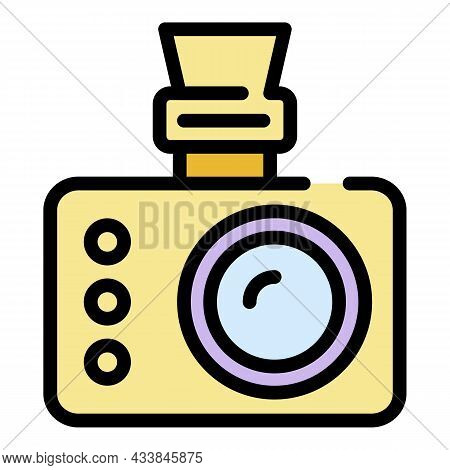 Extreme Camera Icon. Outline Extreme Camera Vector Icon Color Flat Isolated