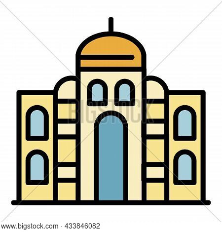 Islamic Temple Icon. Outline Islamic Temple Vector Icon Color Flat Isolated