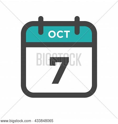 October 7 Calendar Day Or Calender Date For Deadline And Appointment