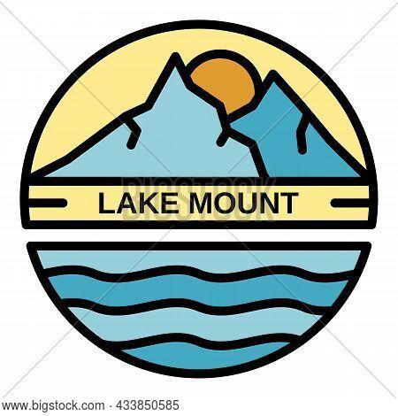 Lake Mount Logo. Outline Lake Mount Vector Logo Color Flat Isolated