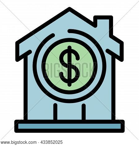 Leasing House Icon. Outline Leasing House Vector Icon Color Flat Isolated