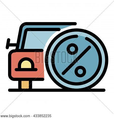 Car In Leasing Icon. Outline Car In Leasing Vector Icon Color Flat Isolated