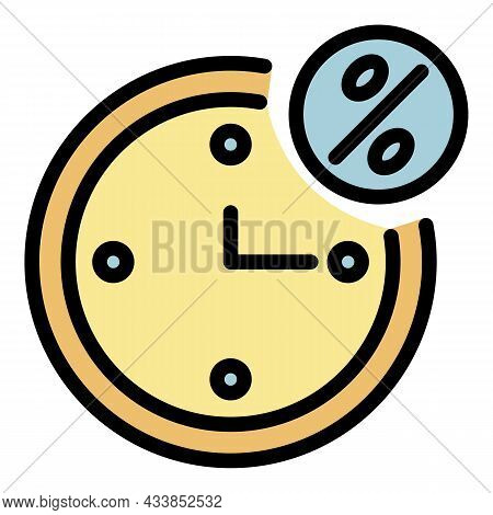 Time Of Lease Payment Icon. Outline Time Of Lease Payment Vector Icon Color Flat Isolated