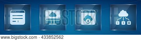 Set Browser Window, Cloud Technology Data Transfer, Failed Access Cloud Storage And . Square Glass P