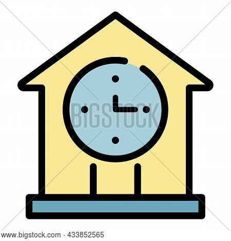 Lease New House Icon. Outline Lease New House Vector Icon Color Flat Isolated