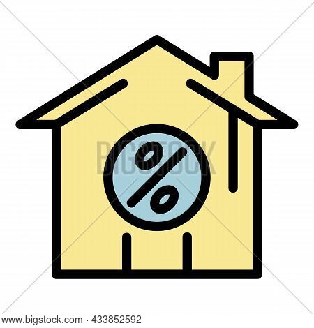 Purchase Leasing House Icon. Outline Purchase Leasing House Vector Icon Color Flat Isolated