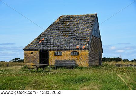 Texel, The Netherlands, August 2021. Autenthic Barn For Sheep On The Isle Of Texel.