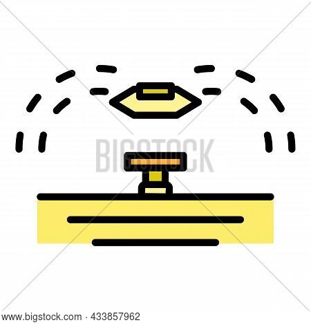 Garden Water Irrigation Icon. Outline Garden Water Irrigation Vector Icon Color Flat Isolated