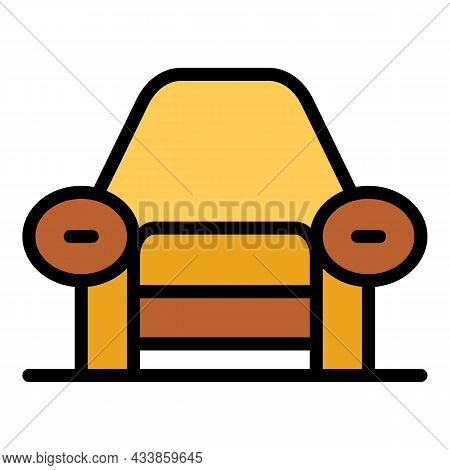 Relax Armchair Icon. Outline Relax Armchair Vector Icon Color Flat Isolated