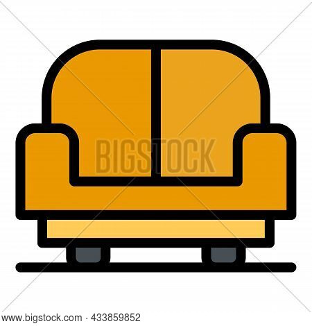 Living Armchair Icon. Outline Living Armchair Vector Icon Color Flat Isolated