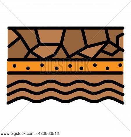 Underground Water Icon. Outline Underground Water Vector Icon Color Flat Isolated