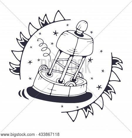 Buoy. Outline Doodle Icon. Cartoon Vector Illustration