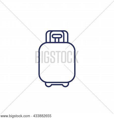 Propane Gas Tank Line Icon On White