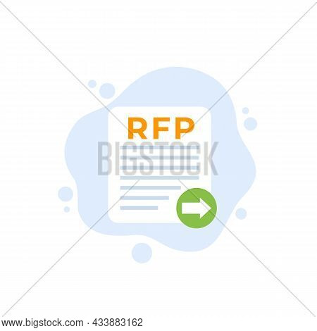 Rfp, Send Request For Proposal, Vector Icon