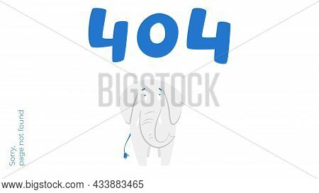 Illustration Of Internet Connection Problem Concept. 404 Error Page Not Found Isolated In White Back