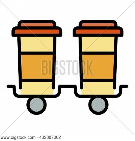 Beverage Delivery Icon. Outline Beverage Delivery Vector Icon Color Flat Isolated