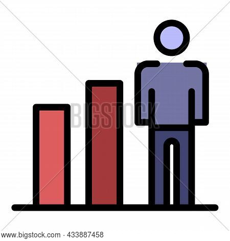 Human Ability Growth Icon. Outline Human Ability Growth Vector Icon Color Flat Isolated