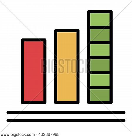 Athlete Rating Icon. Outline Athlete Rating Vector Icon Color Flat Isolated