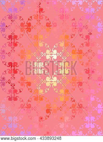 Seamless Handcrafted Pattern With Leaves Imprint. Vector Grunge Leaves Background. Vector Seamless P