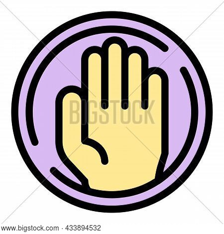 Stop Family Violence Icon. Outline Stop Family Violence Vector Icon Color Flat Isolated