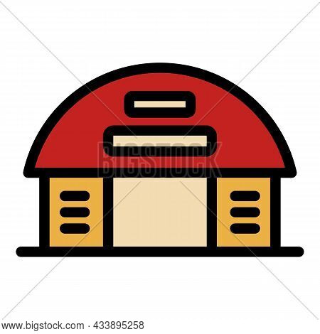 City Warehouse Icon. Outline City Warehouse Vector Icon Color Flat Isolated