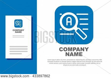 Blue Translator Icon Isolated On White Background. Foreign Language Conversation Icons In Chat Speec