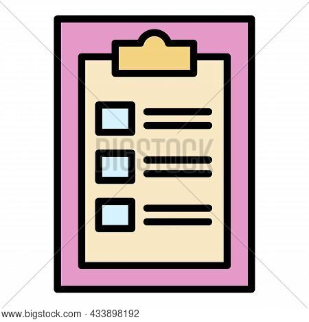 Doctor Form Icon. Outline Doctor Form Vector Icon Color Flat Isolated