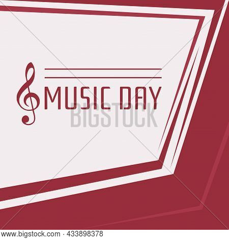 World Music Day With Red Base Color