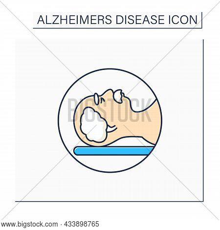 Mri Color Icon. Brain Scan. Magnetic Resonance Imaging.safe, Painless Test.examination Brain Status.