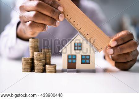Inspector Doing Real Estate Appraisal. House Inspection