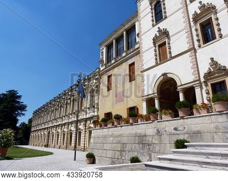 Piazzola Sul Brenta - Padova, Veneto, Italy - August 13, 2016: Villa Contarini. One Of The Most Famo